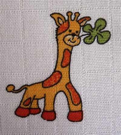 Libštátské tetra osušky Žirafa 90×100 cm 1 ks