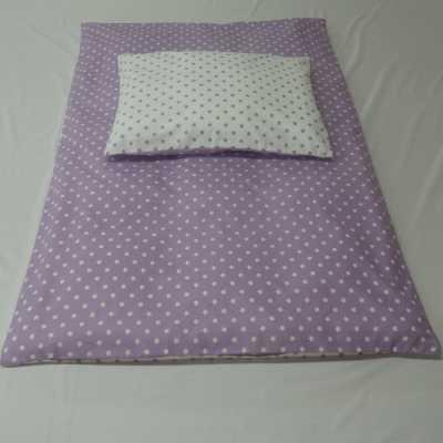 Povlečení bavlna hvězdičky ve fialové do kombinace