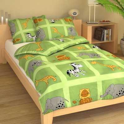 Dětské povlečení bavlna ZOO zelená