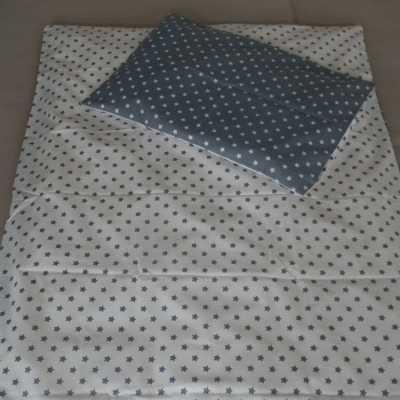 Povlečení bavlna hvězdičky v šedé do kombinace