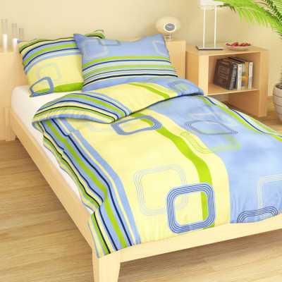 Bavlna geometrie žluto-modrá 9295-45