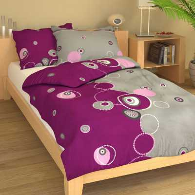 Bavlna kruhy fialovo-šedé 9328-51