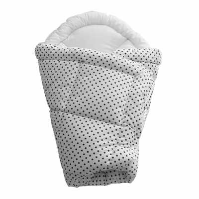Rychlozavinovačka bílá s šedými puntíky